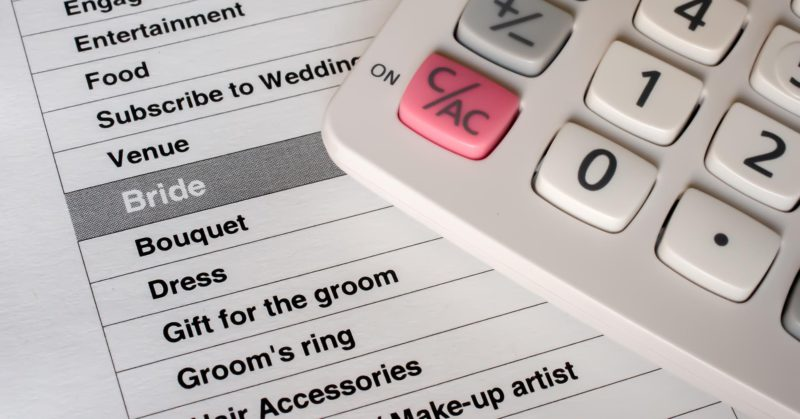 Budget for your wedding day