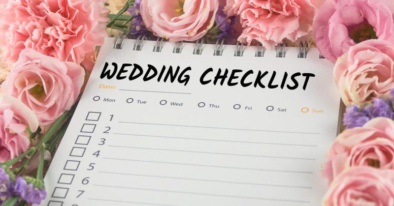 Last Minute Wedding Tasks