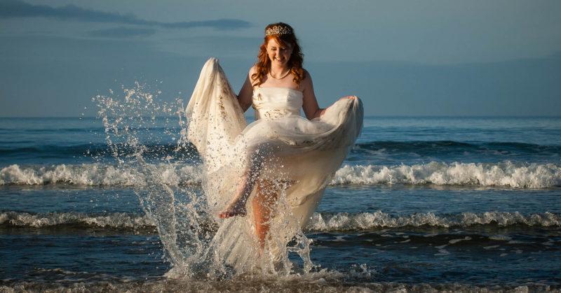 Bride at Downhill Beach