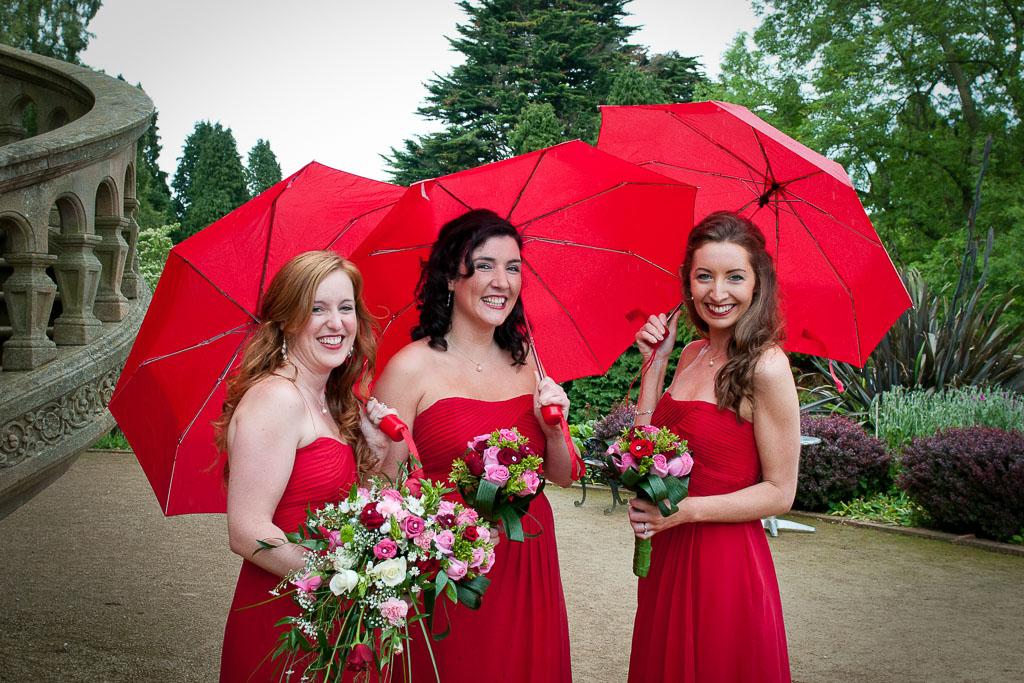 Umbrellas at weddings