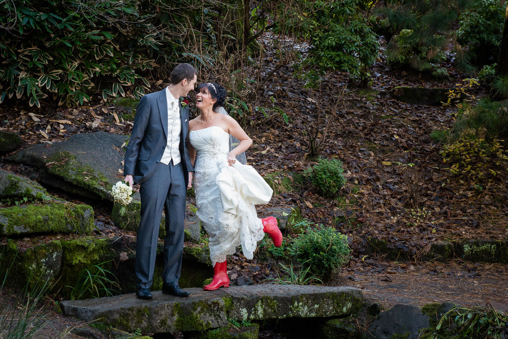 Wellie boots on your wedding day!